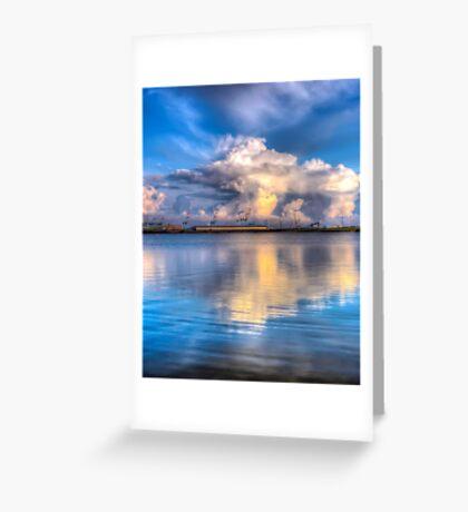 Crosby marina HDR storm clouds Greeting Card