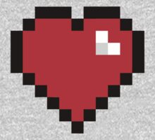 8-Bit Heart One Piece - Long Sleeve