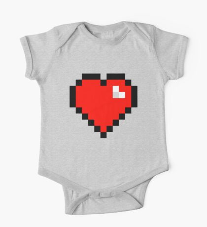 8-Bit Heart One Piece - Short Sleeve