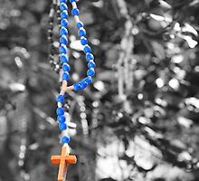 Rosary beads (selective colour) by CliveHarris