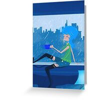Feeling Blue....In A Good Way Greeting Card