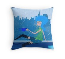 Feeling Blue....In A Good Way Throw Pillow