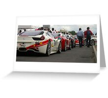 Ferrari Challenge cars Greeting Card