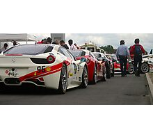 Ferrari Challenge cars Photographic Print