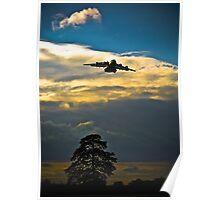 C17 Globemaster Arrival Sunset Poster