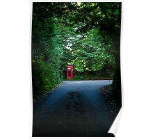Red Phone Box over Bodmin Moor Poster