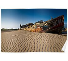 Old Boat over Braunton Burrows Poster