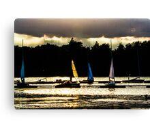 Evening Sails Canvas Print
