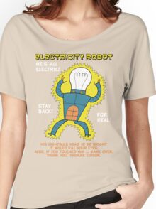 Electricity Robot -- he's all electric -- color Women's Relaxed Fit T-Shirt