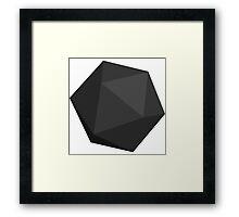 Dark Grey D20 Framed Print