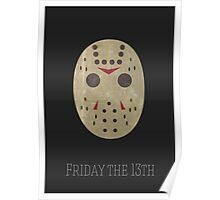 Jason Friday 13th Minimal Print Poster