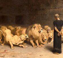 Daniel in the Lions' Den by Bridgeman Art Library
