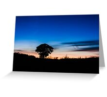 Evening Silouhette Greeting Card