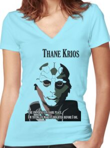 Mass Effect - Thane Krios Women's Fitted V-Neck T-Shirt