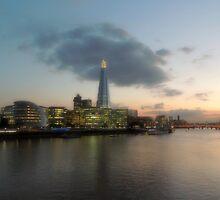 Sunset over The River Thames by Huskyfan