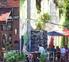 Outdoor Cafe Philadelphia PA by Susan Savad