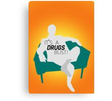 "BBC Sherlock ""It's a drugs bust!"" - Greg Lestrade Canvas Print"