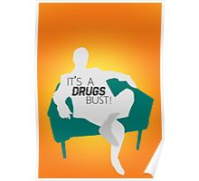 "BBC Sherlock ""It's a drugs bust!"" - Greg Lestrade Poster"
