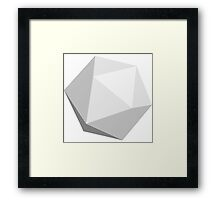 White D20 Framed Print