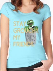 Stay Grouchy Women's Fitted Scoop T-Shirt