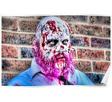 Purple Bearded Zombie Poster