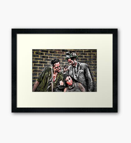 Three Zombies Framed Print