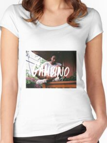 Childish Gambino Type Women's Fitted Scoop T-Shirt