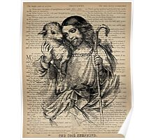 Jesus and the Lamb Proverbs 3 Poster