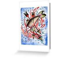bloody koi with arrows Greeting Card