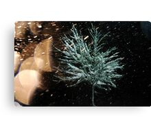 Tree in Snow Fall Canvas Print