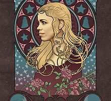 Rose Tyler art nouveau , Doctor Who , TARDIS by koroa