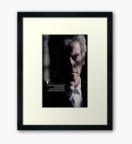 Twelve Doctor Who (3) {CASES, PILLOWS,ETC} Framed Print