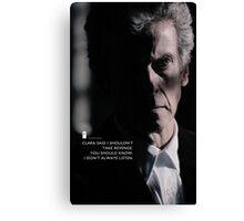 Twelve Doctor Who (3) {CASES, PILLOWS,ETC} Canvas Print