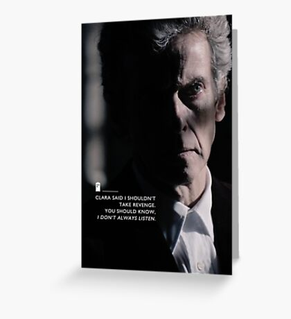 Twelve Doctor Who (3) {CASES, PILLOWS,ETC} Greeting Card