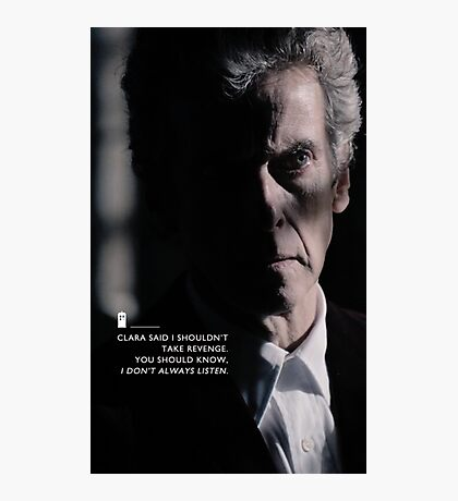 Twelve Doctor Who (3) {CASES, PILLOWS,ETC} Photographic Print