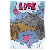 Tina's Horses Kissing Poster - Bob's Burgers Poster