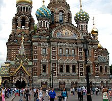 Church of the Saviour on Spilled Blood, St Peterburg by Geoffrey Grinton