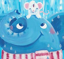 Friends - Rondy the Elephant and Minni the Mouse by oksancia