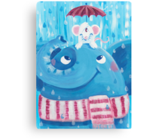 Friends - Rondy the Elephant and Minni the Mouse Canvas Print