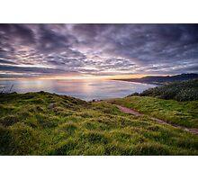 Muriwai Beach Sunset Photographic Print