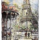 Paris 9 in colour by Tatiana Ivchenkova