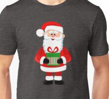 Happy Santa Claus with gifts Unisex T-Shirt