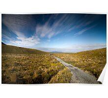 Tongariro Crossing - Path Poster
