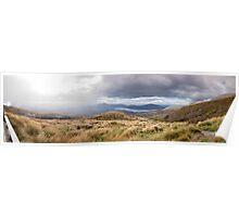 Tongariro Crossing - Path - Panorama Poster