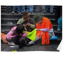 Shawl Vendors, Quito Poster