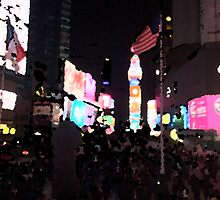 France and USA united in Times Square by Afreshper