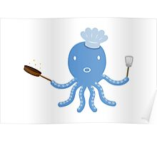 Octopus shef Poster