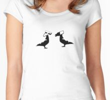 cctv doves  Women's Fitted Scoop T-Shirt