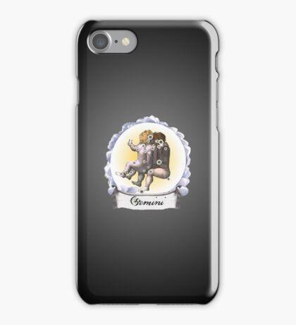 Gemini Zodiac Astrology iPhone, iPod Case Fade to Black, Super Lush iPhone Case/Skin