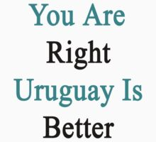 You Are Right Uruguay Is Better  by supernova23